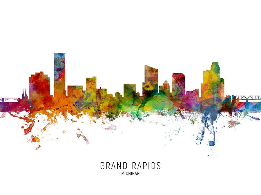 Grand Rapids Michigan Skyline by Michael Tompsett
