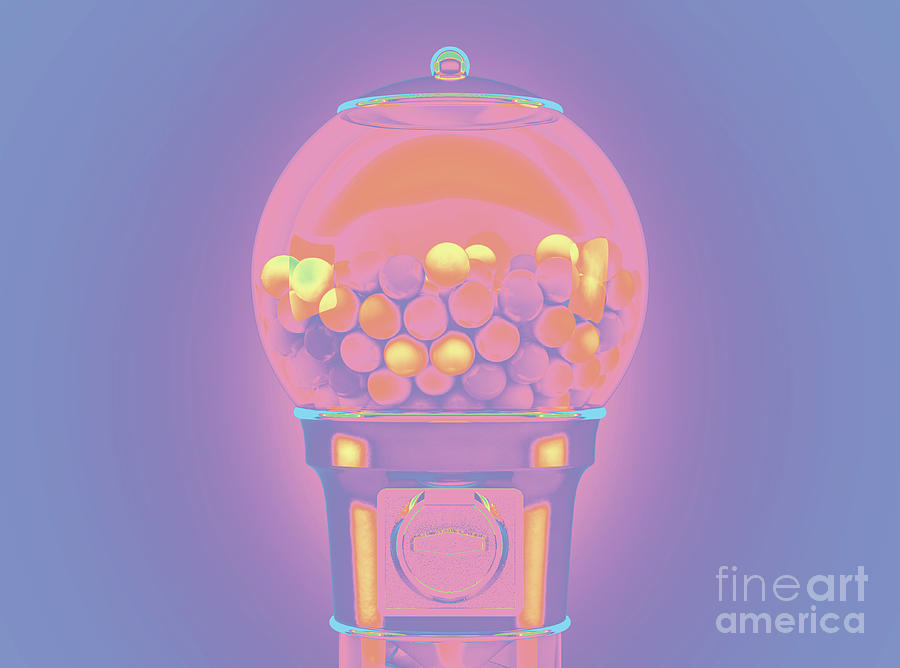 Gumball Dispensing Machine Digital Art