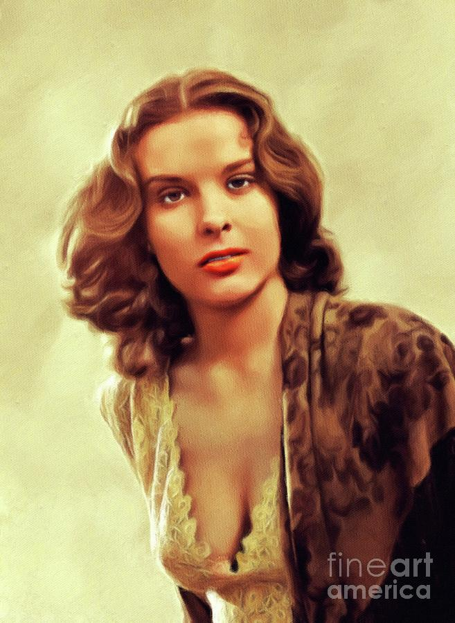 Jean Peters, Vintage Actress by John Springfield