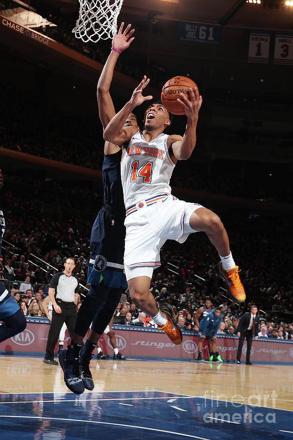 Minnesota Timberwolves V New York Knicks Photograph by Nathaniel S. Butler