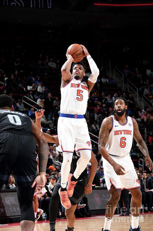 New York Knicks V Detroit Pistons Photograph by Chris Schwegler