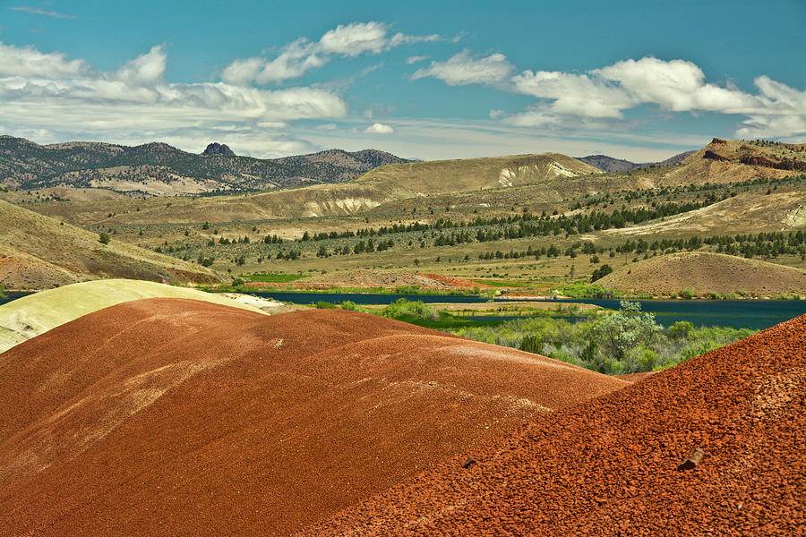 Black Photograph - Painted Hills, John Day Fossil Beds by Michel Hersen