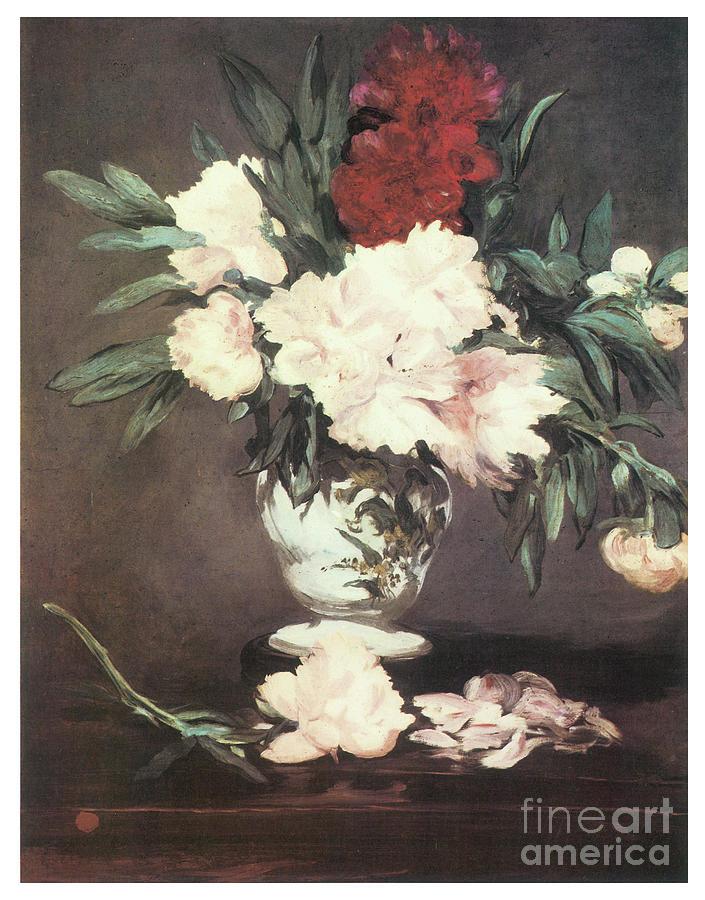 Edouard Manet Painting - Peonies  by Edouard Manet