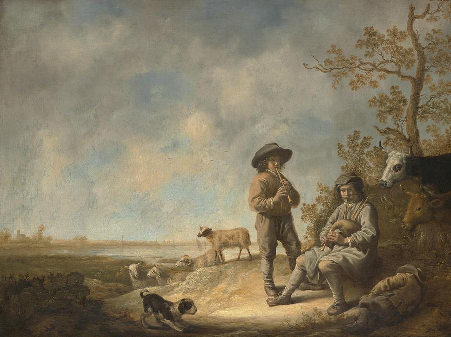 Piping Shepherds by Aelbert Cuyp