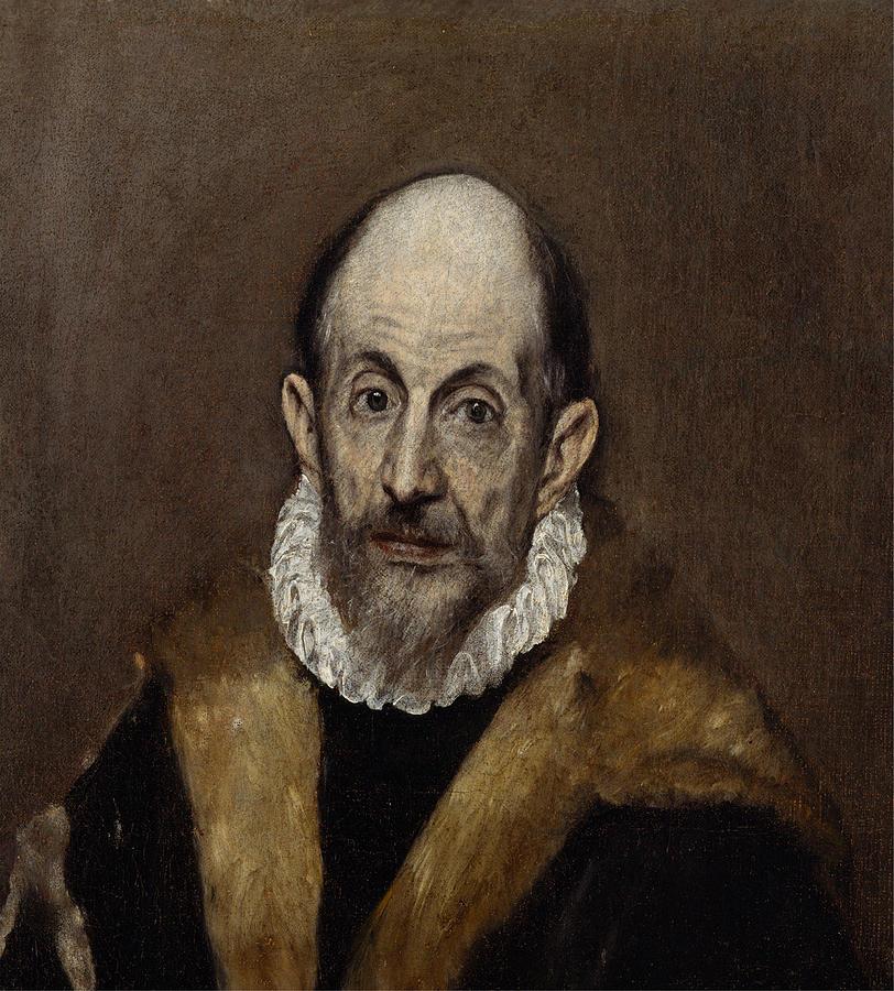 El Greco Painting - Portrait Of A Man  by El Greco