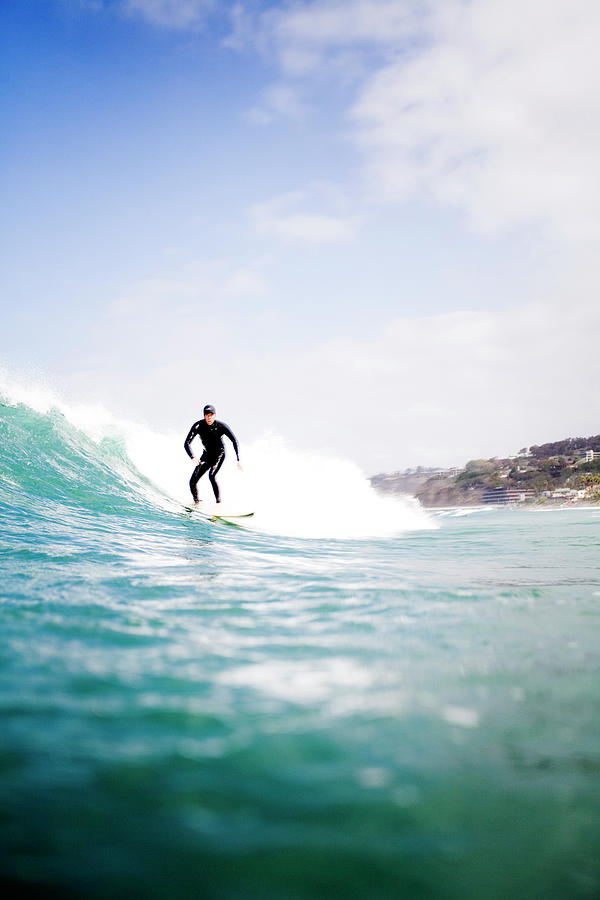 Surfing In La Jolla, California Photograph by Jay Reilly