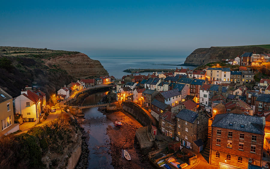 The Beautiful Fishing Village Of Staithes In England. Photograph