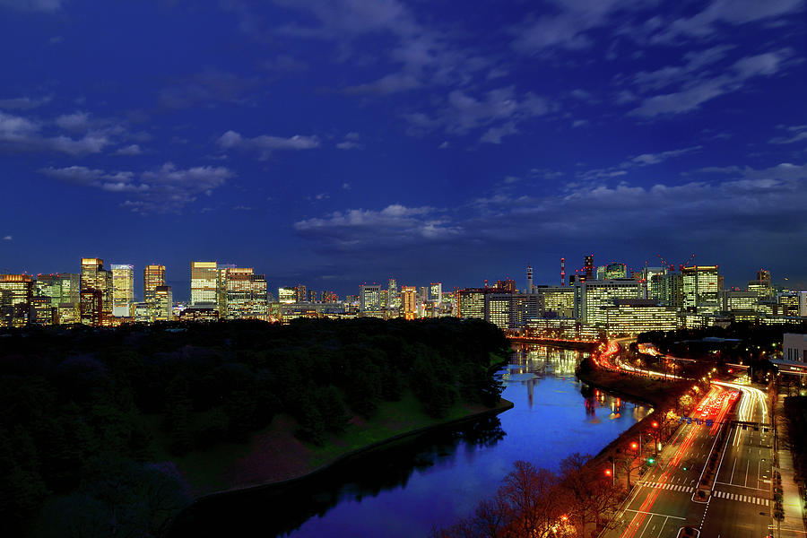Tokyo Downtown Cityscape Photograph by Vladimir Zakharov