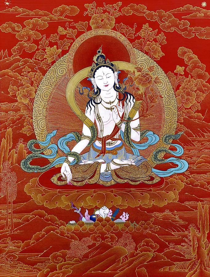 apartment accessories Tibetan Buddhist WHITE TARA thangka art poster
