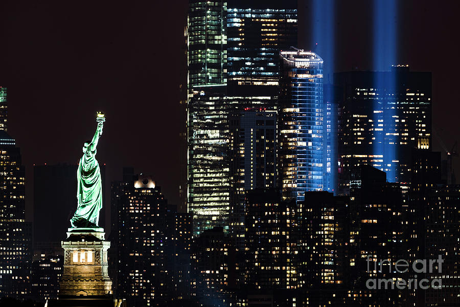911 Photograph - 911 Tribute In Light by Zawhaus Photography