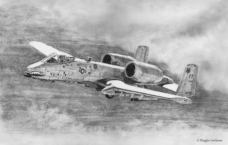 A-10 Drawing by Douglas Castleman