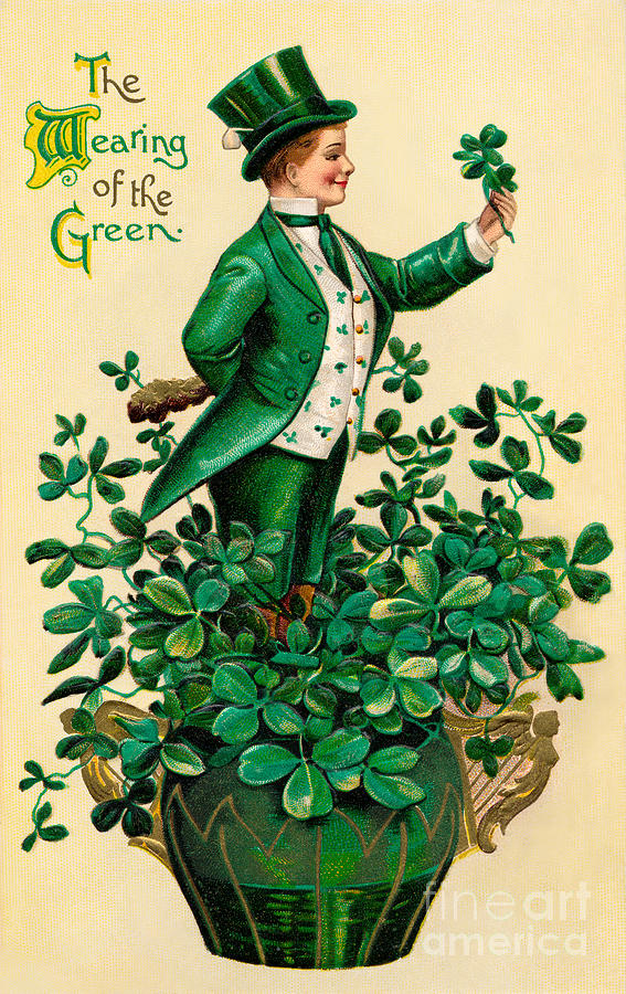 Lucky Photograph - A 1910 Vintage St. Patricks Day by Victorian Traditions