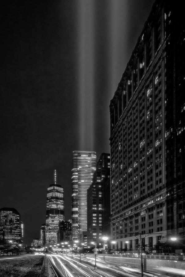 A 911 NYC Tribute In light BW BW by Susan Candelario