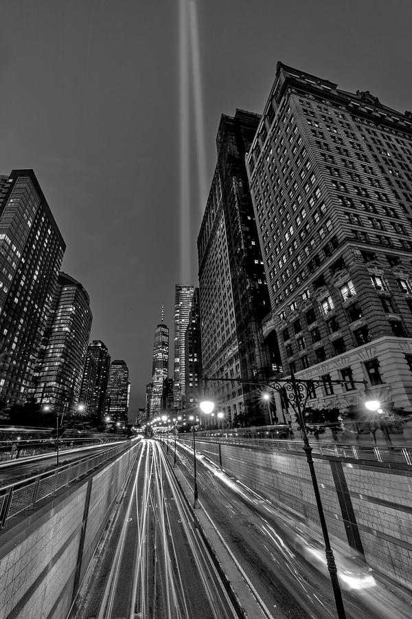 A 911 NYC Tribute In light BW by Susan Candelario
