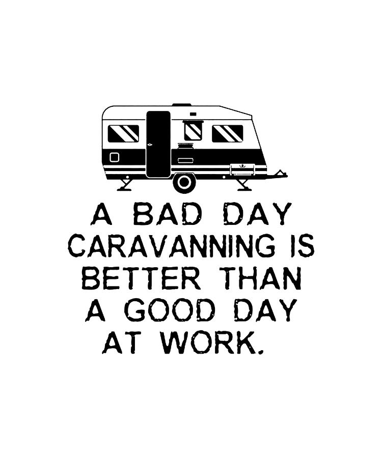 A Bad Day Caravanning Mens Funny Camping Hoodie Caravan Awning Equipment Tent