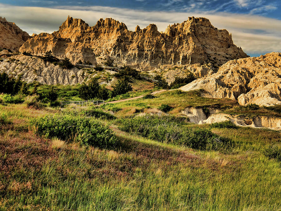 A Badlands Afternoon Photograph by Jeff R Clow
