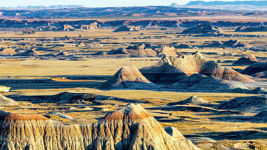 Badlands Photograph - A Badlands Valley Vista by Jim Thompson