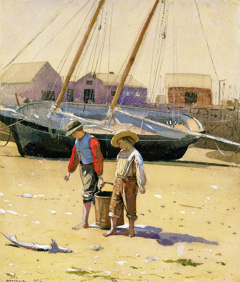 Winslow Homer Painting - A Basket Of Clams - Digital Remastered Edition by Winslow Homer