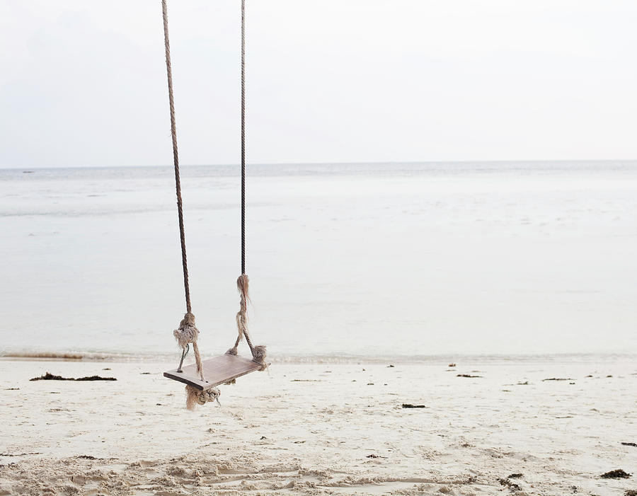 A Beautiful Looking Swing At The Beach Photograph by Frank Rothe
