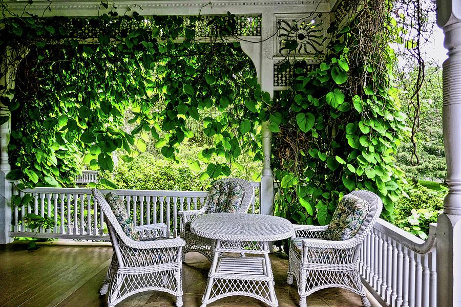 A Beautiful Porch View Photograph
