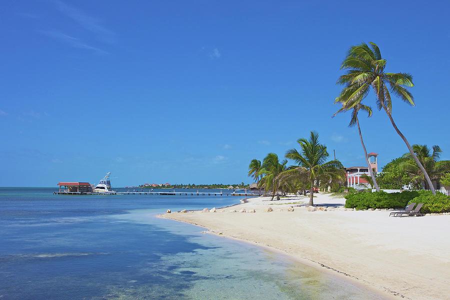 San Pedro Photograph - A Beautiful Scene Of A Beach Resort On by Hendrikdb