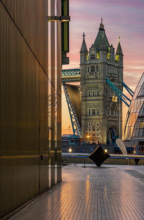 A Beautiful Sunrise At Tower Bridge In London Photograph