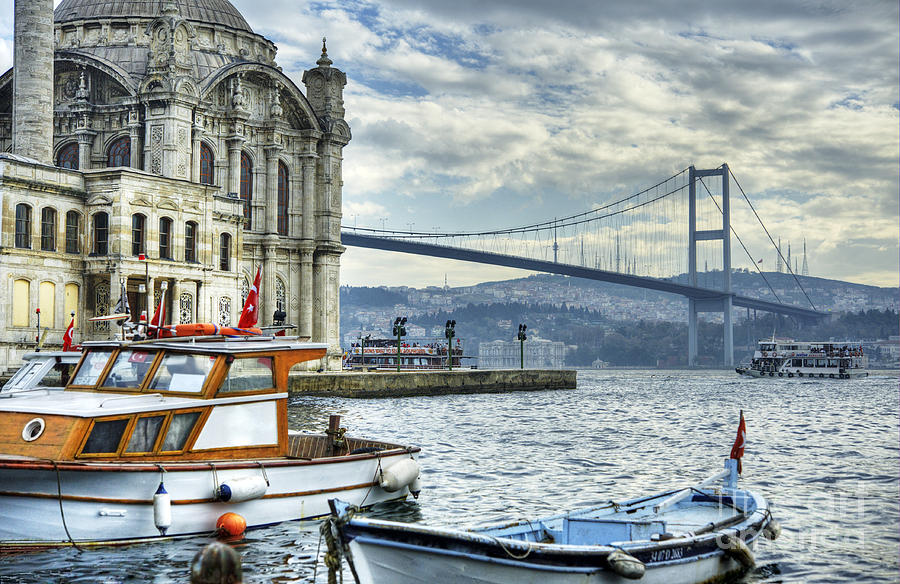 Islamic Photograph - A Beautiful View Of Ortakoy Mosque And by Senai Aksoy