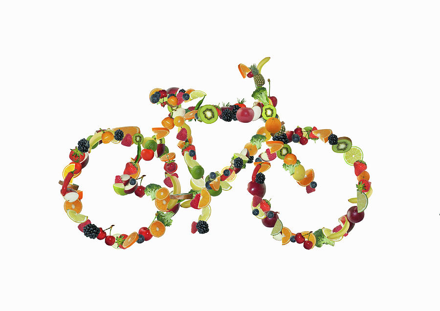 A Bicycle Shaped Out Of Fruits Photograph by Luxx Images