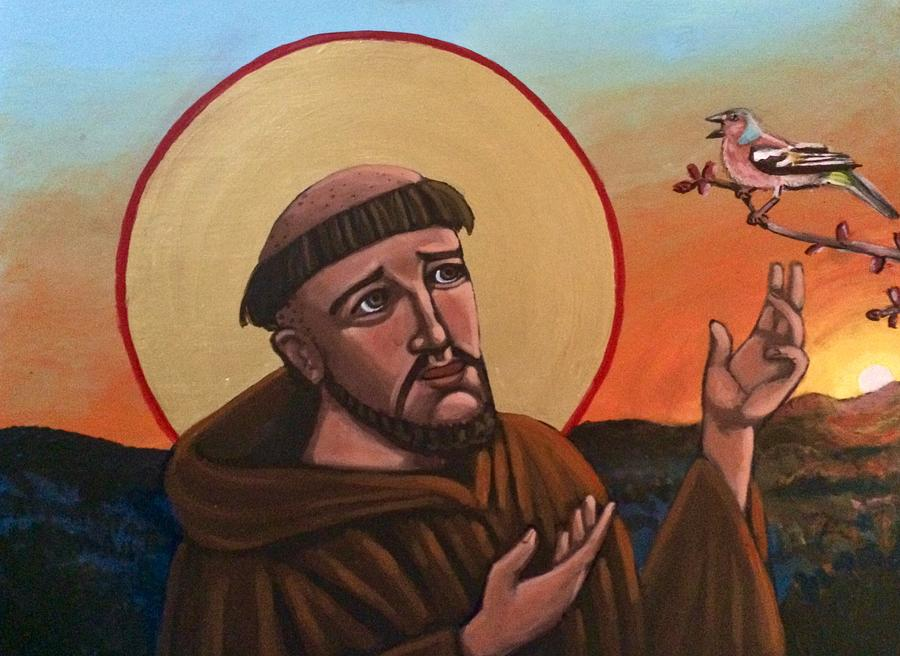 A Bird Preaches to Francis by Kelly Latimore