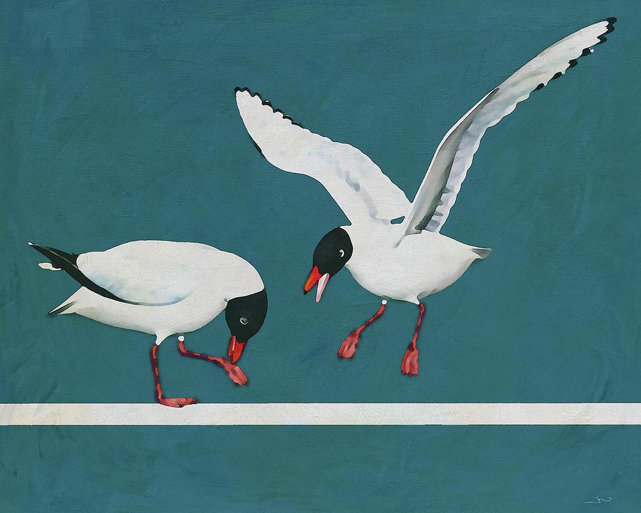 A Black Headed Gull Arriving by Jan Keteleer