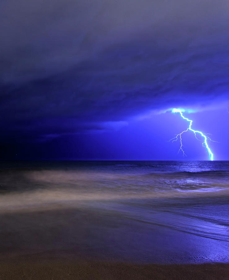 A Bolt Of Lightning From An Approaching Photograph by Stocktrek Images/luis Argerich