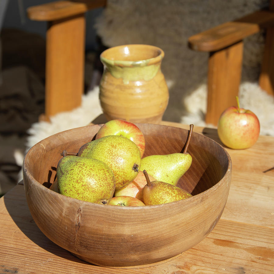 Pears Photograph - A Bowl Of Pears by Steev Stamford
