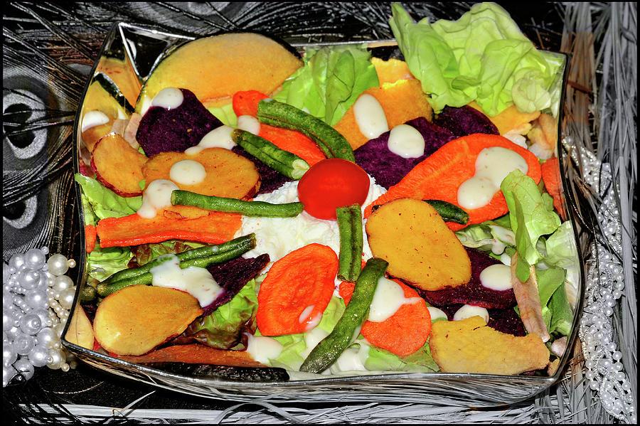 A Bowl Of Salad Photograph