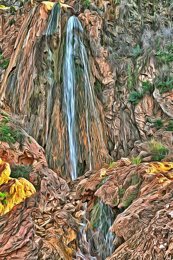 A breathtaking waterfall in the mountains near Agadir in Morocco by Gina Koch