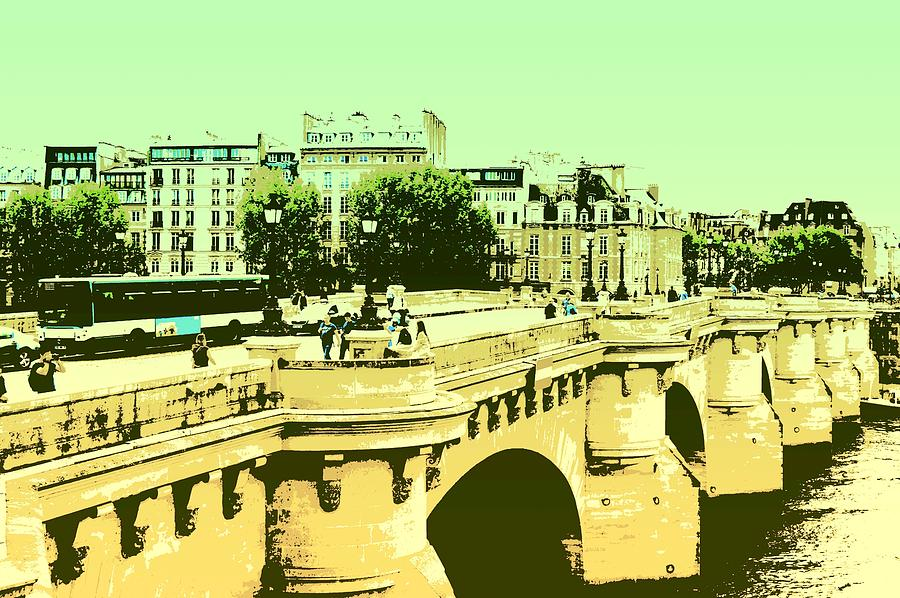 A Bridge In Paris - Pop Art by Marla McPherson