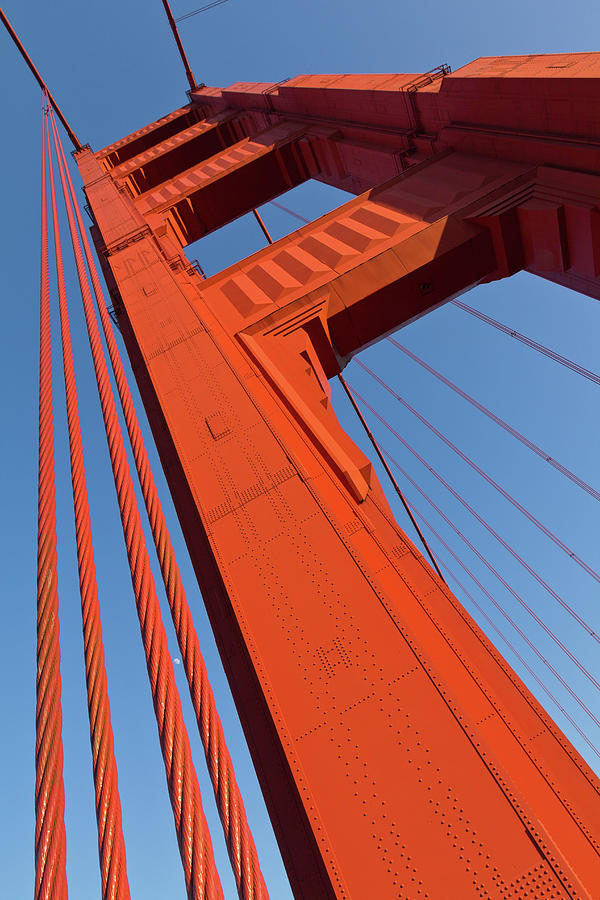 A Bridge Pier Of The Golden Gate Bridge Photograph by Siegfried Layda