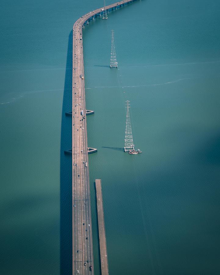 Teal Photograph - A Bridge by Wei (david) Dai