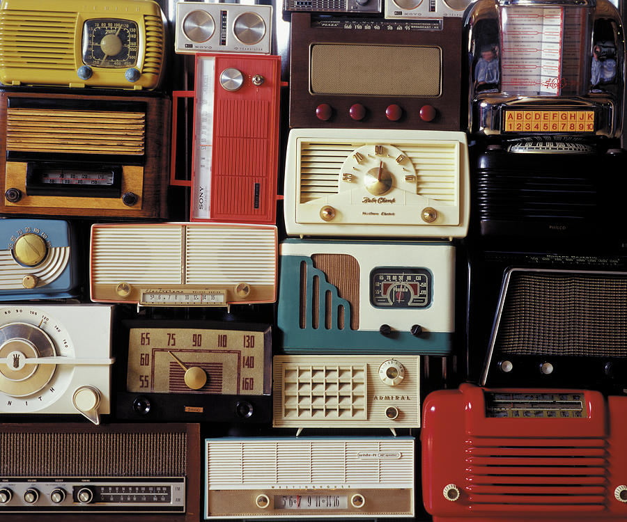 A Bunch Of Old Radios Piled Up, Old Photograph by Greg Huszar
