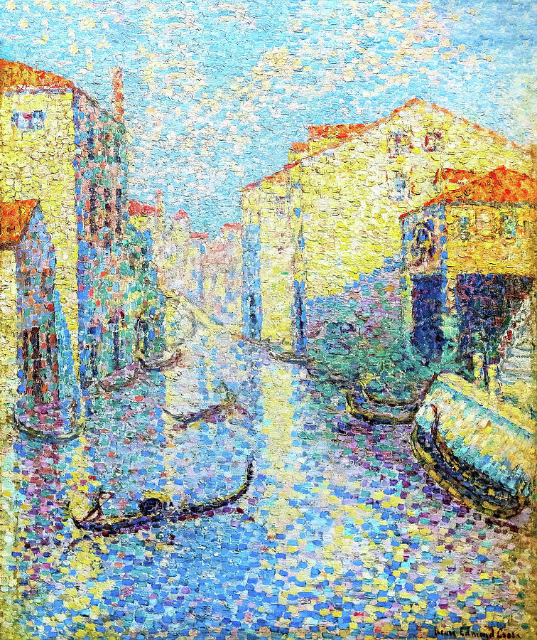 Venice Painting - A Canal In Venice - Digital Remastered Edition by Henri Edmond Cross