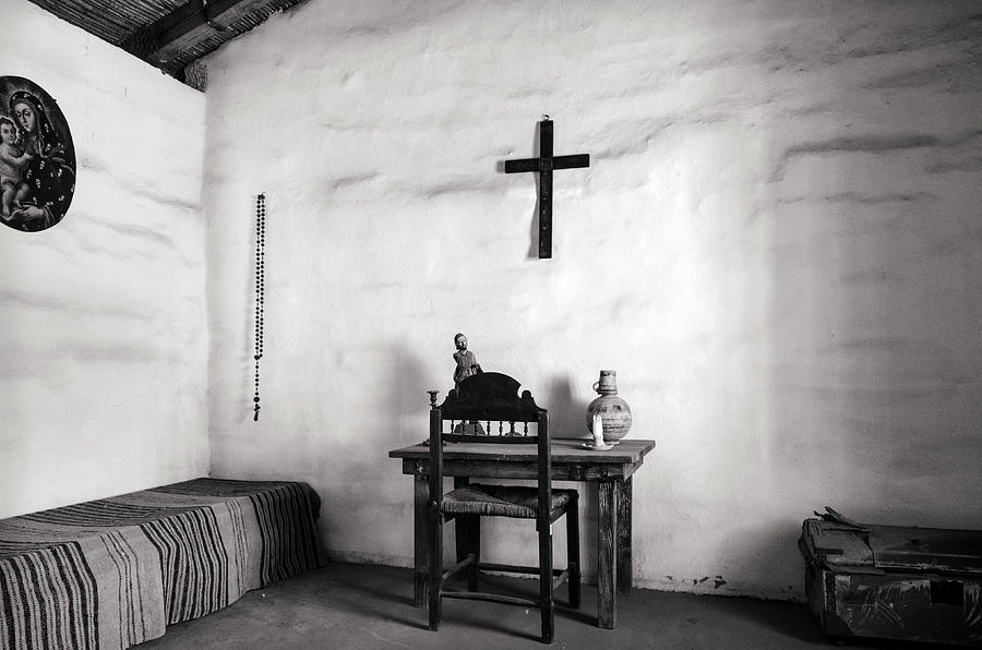 A cell in Santa Barbara Mission BW by RicardMN Photography