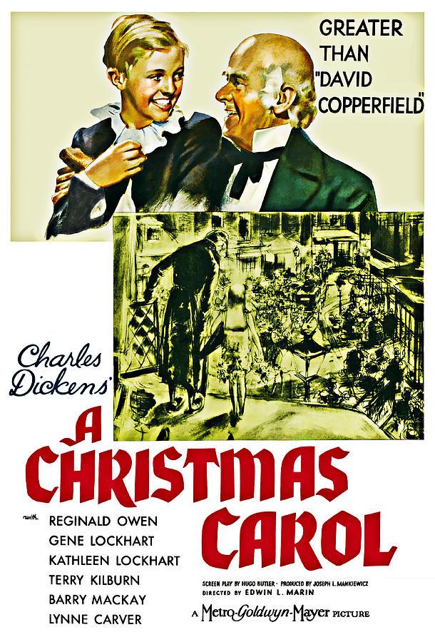 Christmas Digital Art - A Christmas Carol Movie Poster 1938 by Joy McKenzie