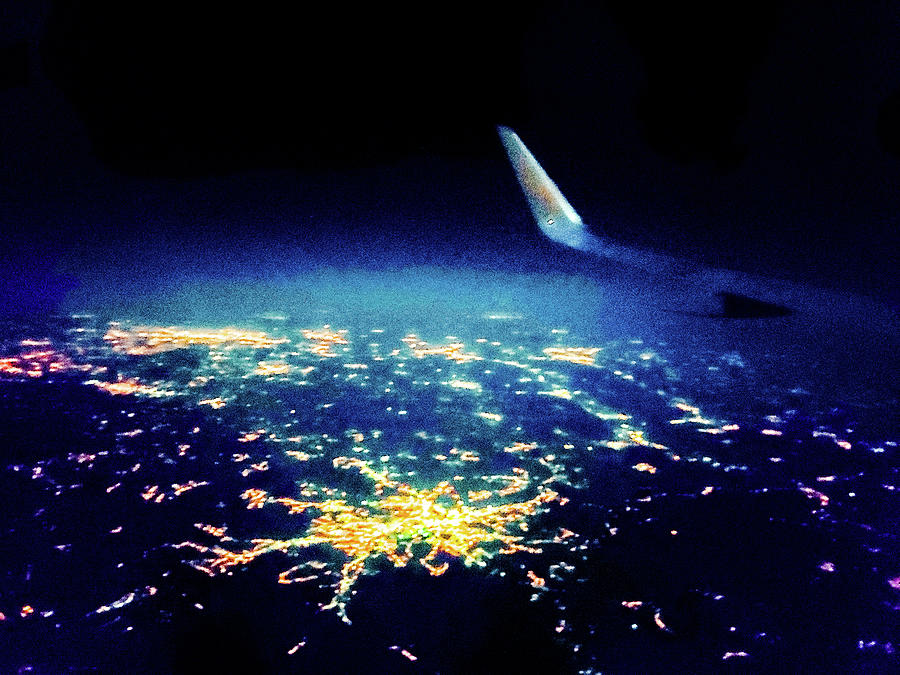 City Photograph - A city in Serbia seen from a plane by Chirila Corina