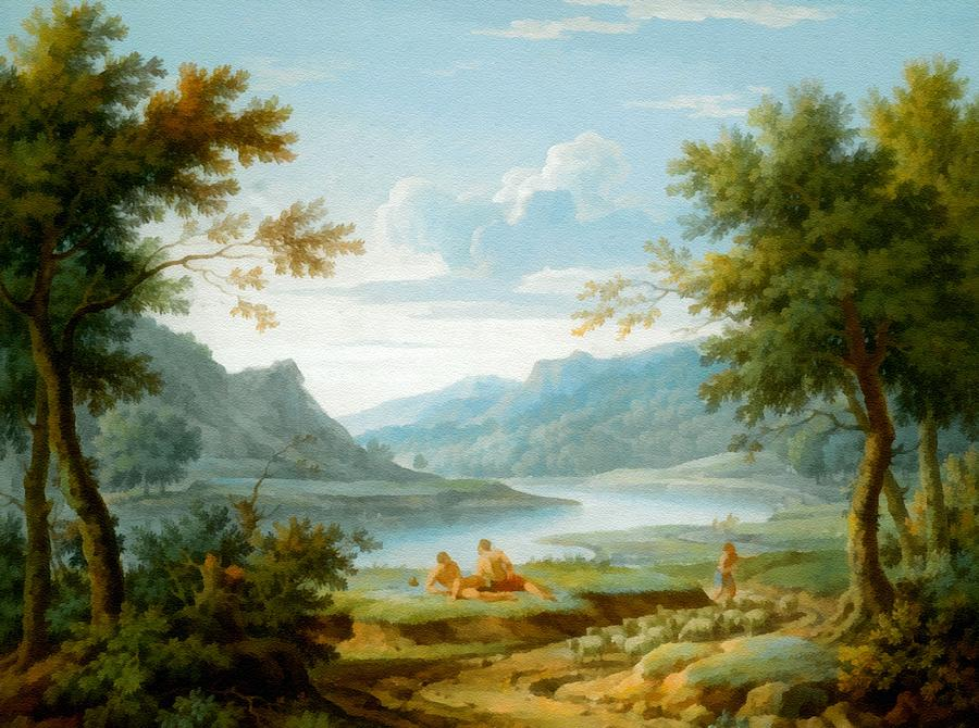 Classical Landscape with Gypsies | James Wootton | 32.53.2