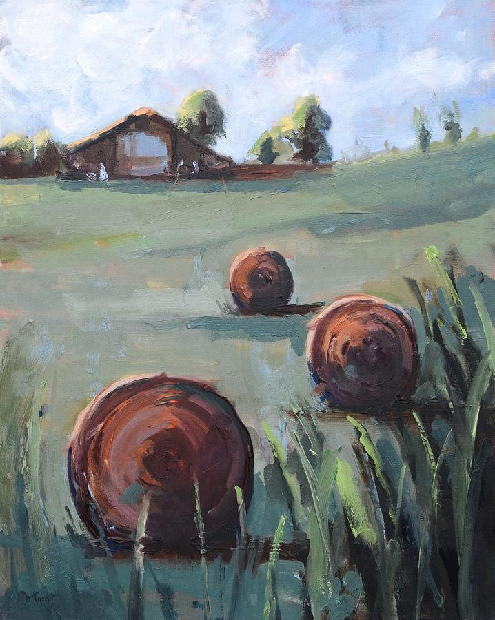 A Clear Country Day Painting by Donna Tuten
