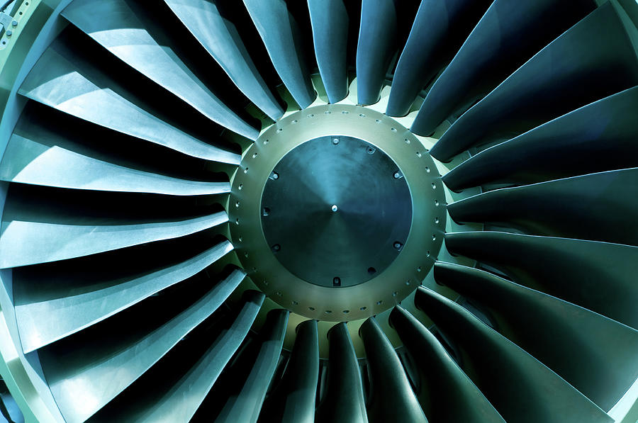 A Close Of Up A Turbine Showing The Photograph by Brasil2
