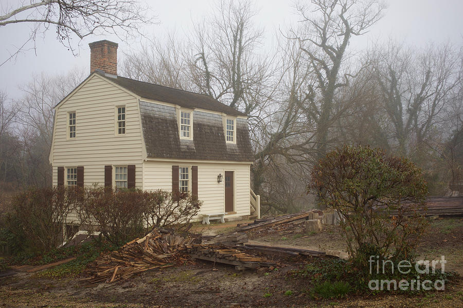 A Colonial House in Winter by Rachel Morrison
