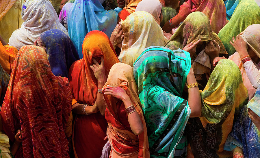 A Colorful Crowd Of People Celebrate Photograph by Mint Images/ Art Wolfe