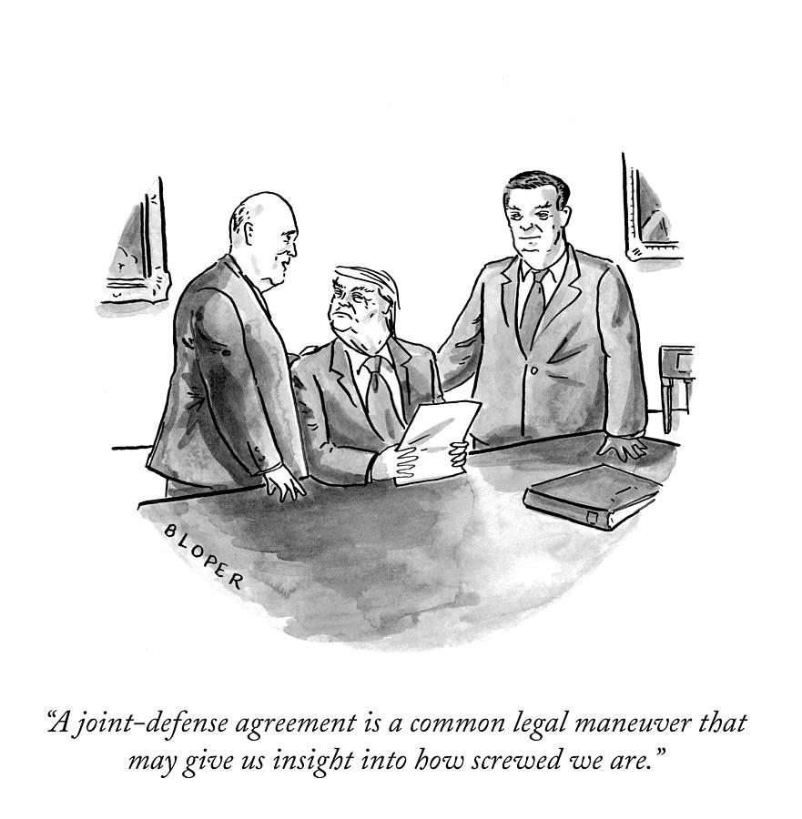 A Common Legal Maneuver Drawing by Brendan Loper