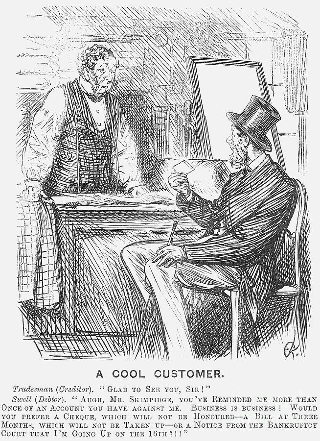 A Cool Customer. 1871 Drawing by Print Collector