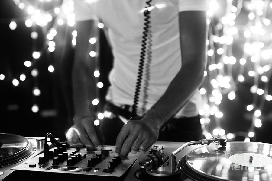Play Photograph - A Cool Male Dj On The Turntables by Dubassy